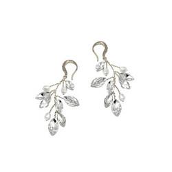Kristallikorvakorut, ATHENA BRIDAL|Natural  Pearl Twine Earrings