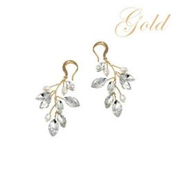 Kristallikorvakorut, ATHENA BRIDAL|Natural Pearl Twine Earrings in GD