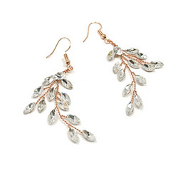 Kristallikorvakorut, ATHENA BRIDAL|Crystal Twine Earrings in RG