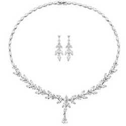 Kristallikorusetti, ATHENA BRIDAL|Elegant Cubic Zirconia Necklace