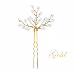 Hiuskoru, ATHENA BRIDAL|Dainty Silver Hairpin with Crystals