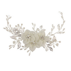 Hiuskoru, ATHENA BRIDAL JEWELLERY|White Floral Romantic Headpiece