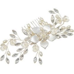 Hiuskoru, ATHENA BRIDAL JEWELLERY|Silver Flower Headpiece