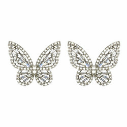 Korvakorut, FRENCH RIVIERA|Silver Butterflies -perhoskorvakorut