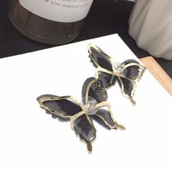 Korvakorut, FRENCH RIVIERA|Black Chiffon Butterflies -perhoskorvakorut