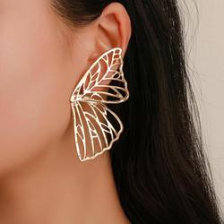 Korvakorut, FRENCH RIVIERA|Large Silver Butterfly Wings