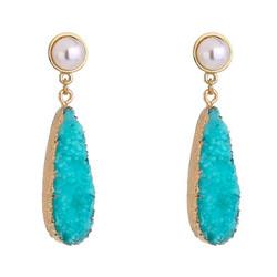 Korvakorut, FRENCH RIVIERA|Summer Turqoise Teardrop Earrings