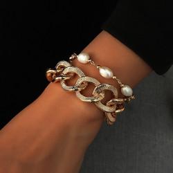 Rannekorusetti, FRENCH RIVIERA|Chunky Pearl Bracelet