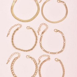 Rannekorusetti, FRENCH RIVIERA|Simple Gold Bracelet Set