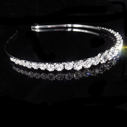 Hiuspanta|SUGAR SUGAR, Silver Hairband with Clear Crystals
