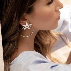 Korvakorut, FRENCH RIVIERA|Summer Seastar Earrings in Silver