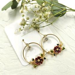 Korvakorut, Romantic Flower Earrings -romanttiset kukkakorvakorut