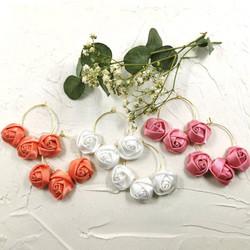 Kirurginteräskorvakorut, Romantic Rose Hoops -kukkarenkaat
