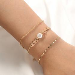 Rannekorusetti, FRENCH RIVIERA|Delicate Chain Bracelets in Gold