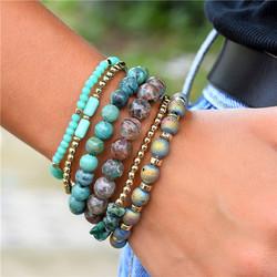 Rannekorusetti, FRENCH RIVIERA|Boho Turqoise Bracelet Set