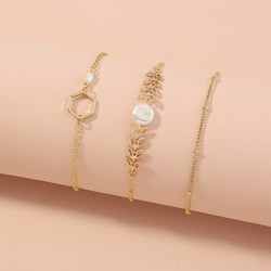 Rannekorusetti, FRENCH RIVIERA|Delicate Chain Bracelets in Gold No.II