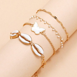 Rannekorusetti, FRENCH RIVIERA| Summer Chain Bracelets in Gold