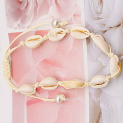 Nilkkakoru|HOLIDAY COLLECTION, White Summer Seashell Anklet