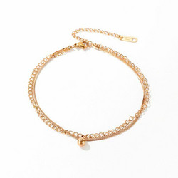 Nilkkakoru|HOLIDAY COLLECTION, Rosegold Anklet with Ball Charm