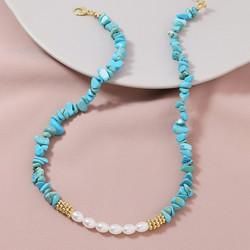 Kaulakoru, PAPARAZZI|Natural Turqoise Necklace with Pearls