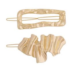 Pinnisetti|SUGAR SUGAR, Asymmetrical Clip Set in Gold