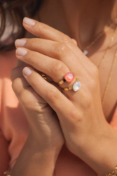 Sormus, BOHM PARIS|Bague Bea Rose Opal Crystal