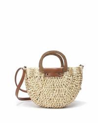 Laukku, BESTINI Paris|Straw Handbag in Natural White and Gold