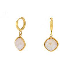 Korvakorut, BOHM PARIS|Boucles D'oreilles Léa avec cristal ivory