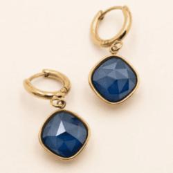 Korvakorut, BOHM PARIS|Boucles D'oreilles Léa avec cristal royal blue