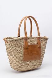 Laukku, BESTINI Paris|Summer Straw Bag with Brown Details