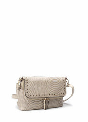 Laukku, BESTINI Paris|Small Handbag in Beige with Gold Details