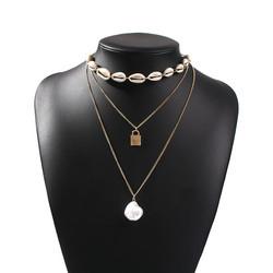 Kerroskaulakoru, FRENCH RIVIERA|Genuine Seashell Necklace in Gold