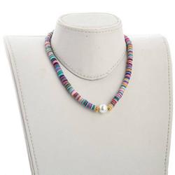 Kaulakoru, PAPARAZZI|Multicolor Surf Necklace with Pearl