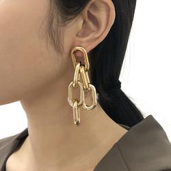 Korvakorut, PAPARAZZI|Chunky Gold Chain Earrings