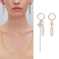 Korvakorut, FRENCH RIVIERA|Asymmetrical Gold Earrings