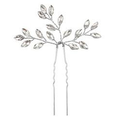 Hiuskoru, ATHENA BRIDAL|Dainty Silver Hairpin with Crystals