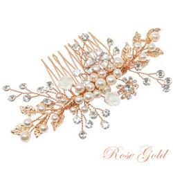Hiuskoru, ATHENA BRIDAL|Romantic Flower Headpiece -Luxe Hair Comb (RG)