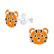 Lasten hopeakorvakorut, Tiger -tiikerikorvakorut