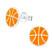 Hopeiset korvanapit, Basketball -koripallo korvakorut