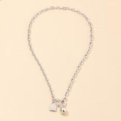 Kaulakoru, FRENCH RIVIERA|Simple Lock Necklace in Silver