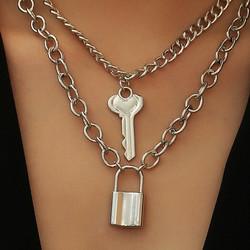 Kaulakorusetti, PAPARAZZI|Necklace Set with Key and Lock