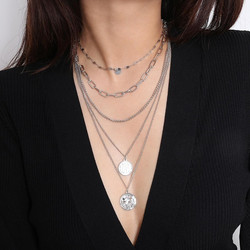 Kerroskaulakoru, FRENCH RIVIERA|Love Layer Necklace in Silver