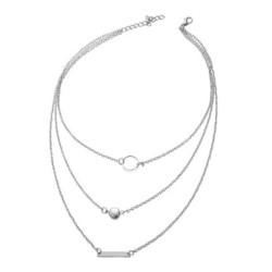 Kerroskaulakoru, FRENCH RIVIERA|Delicate Simple Silver Necklace