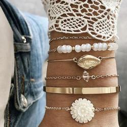 Rannekorusetti, FRENCH RIVIERA|Chrysanthemum Bracelets in Gold