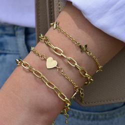 Rannekorusetti, FRENCH RIVIERA|Heart Bracelets in Gold
