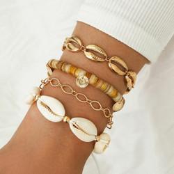 Rannekorusetti, FRENCH RIVIERA|Natural Shell Beach Bracelets in Gold