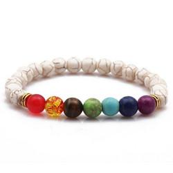 Rannekoru, FRENCH RIVIERA|Boho White Chakra Bracelet