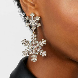 Korvakorut, Gorgeous Snowflake Earrings in Gold -lumihiutalekorvakorut