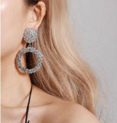 Korvakorut, FRENCH RIVIERA|Modern Ring Earrings in Silver