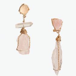 Korvakorut, FRENCH RIVIERA|Modern Pink Earrings in Gold